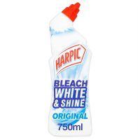 Harpic white & shine toilet cleaner, bleach
