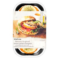 Waitrose Sweet Potato Burgers with Harissa