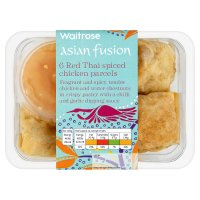 Waitrose Asian fusion 6 red Thai spiced chicken parcels