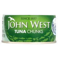 John West pole and line caught tuna chunks in spring water
