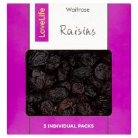 Waitrose LOVE Life 5 Mini Packs Raisins