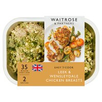 Waitrose Easy To Cook leek & wensleydale chicken breasts