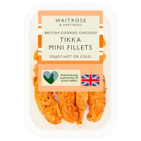 Waitrose British roast chicken tikka mini fillets