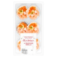 Waitrose 6 mini seafood shells