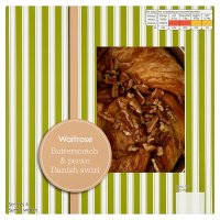 Waitrose butterscotch & pecan Danish swirl