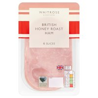 Waitrose Christmas British honey roast ham, 6 slices