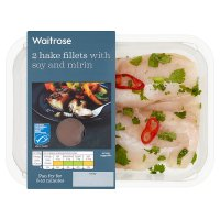 Waitrose 2 Hake Fillets with Soy and Mirin