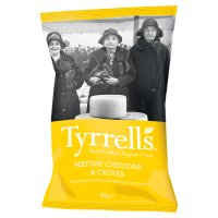 Tyrell's mature cheddar & chives potato chips