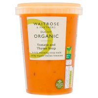 Waitrose Duchy Organic tomato and thyme soup