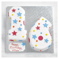 16th Birthday stars and dots cake