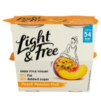 Danone Light & Free Greek Style Yogurt Peach Passion
