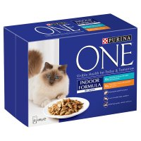 Purina one indoor formula in gravy tuna chicken