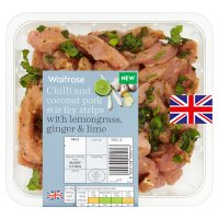 Waitrose Chilli & Coconut Pork Stir Fry Strips