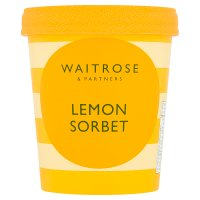 Waitrose lemon sorbet