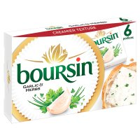 Boursin garlic & herbs 6 portions