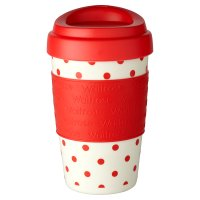 Waitrose Red Spot Coffee Cup