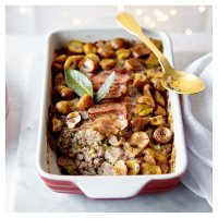 Pork stuffing with chestnuts & leek