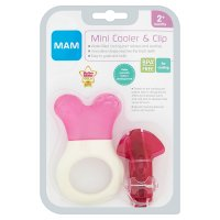 Mam 2month+ mini cooler & clip teether, assorted