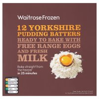 Waitrose frozen 12 Yorkshire pudding batters