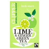 Clipper lime & ginger green tea