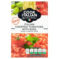 Cook Italian chopped tomatoes with basil