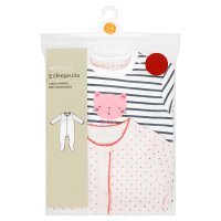 Waitrose 2 pack girls sleepsuits