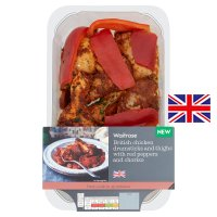 Waitrose chicken drumsticks & thighs red pepper & chorizo