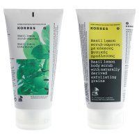 Korres body scrub basil lemon
