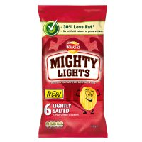 Walkers Mighty Lights lightly salted multipack crisps