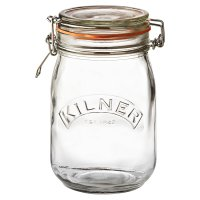 Kilner 1 litre cliptop jar