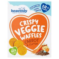 Heavenly Carrot & Cumin Veggie Waffles
