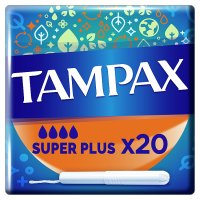 Tampax Super Plus Applicator Tampon Single 20PK