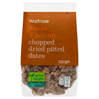Waitrose Chopped Dried Pitted Dates