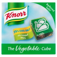 Knorr vegetable reduced salt 6 pack stock cubes