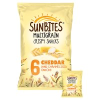Sunbites wholegrain snacks cheddar & onion multipack crisps