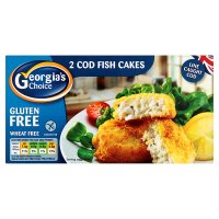 Georgia's Choice 2 cod fish cakes gluten free