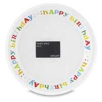 John Lewis paper plates 23cm happy birthday