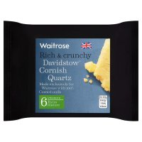 Waitrose Davidstow Cornish Quartz extra mature cheese, strength 6