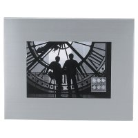 Insignia brushed metal photo frame - 4x6