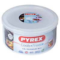 Pyrex Classic 1.6 litre glass round dish with lid