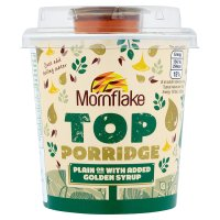 Mornflake top porridge golden syrup