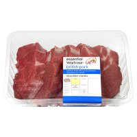 essential Waitrose 6 British Outdoor Bred pork shoulder steaks