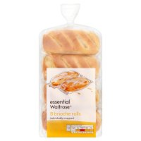 essential Waitrose 8 Brioche Rolls Individually Wrapped