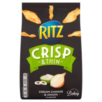 Ritz Crisp and Thin cream cheese and onion sharing crisps