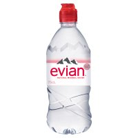 Evian with sports cap