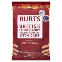 Burts British potato chips spicy chorizo - Waitrose