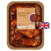 Waitrose British sticky BBQ chicken drumsticks