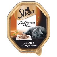 Sheba select slices of lamb & vegetables in gravy foil tray cat food