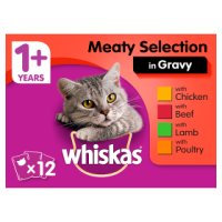 Whiskas 1+ Years Meat Selection in Gravy