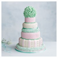 Tallulah 5 tier  Wedding Cake, Fruit (Base tier) & Golden Sponge (4 tiers)